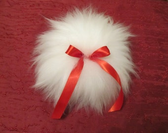 Colossal large 8 inch diameter hand made wool powder Puff made in the USA for Valentines Day