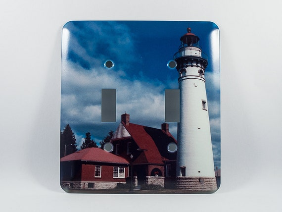 Light switch cover seul choix lighthouse michigan design for Lighthouse switch plates