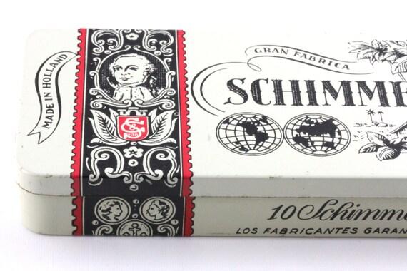 Vintage Cigar Tin Schimmelpenninck Duet Holland - Red Black White