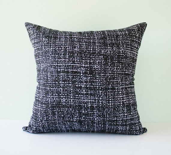 White Throw Pillows Etsy : Items similar to Black and white modern decorative throw pillow cover / modern pillowcase ...