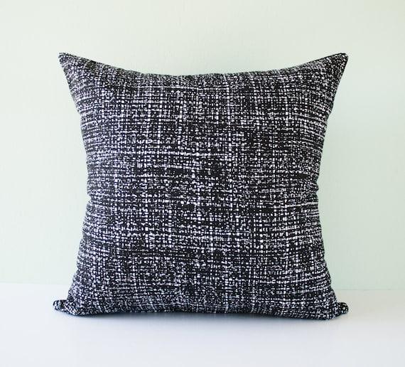 Items similar to Black and white modern decorative throw pillow cover / modern pillowcase ...