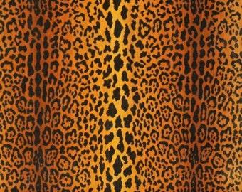 CLARENCE HOUSE Exclusive Leopard JAGUAR Velours Soie Silk Velvet Fabric 3 Yards