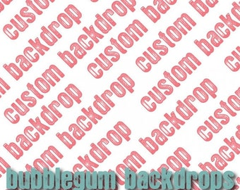 Order ANY Size - See Price List - Custom Backdrop - Vinyl Photography Backdrop Floordrop Prop