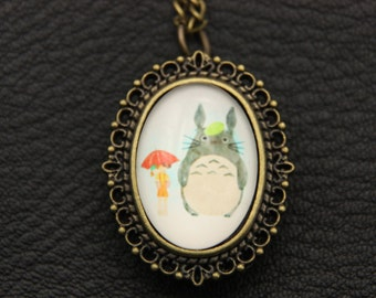 V2-Necklace Watch totoro and mei