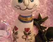 Adorable 60's Kitty 4 inches Tall Cute, Smiley and Happy Cat
