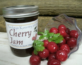 Jam. Homemade Michigan Cherry Jam, Handcrafted, Deliciously Sweet, jam & jelly. Cherry Jam.