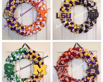 "College ""House Divided"" Team Wreaths"