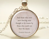 Personalized Gift Idea, Custom Quote Necklace, Inspirational Quote Pendant (1746S1IN)