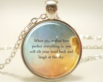 Custom Quote Necklace, Personalized Jewelry For Poem, Song Lyrics, Or Text, Personalized Memorial Jewelry (1730S1IN)