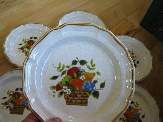 Mikasa Garden Harvest Salad Plate Near Mint 7 By ChinaGalore