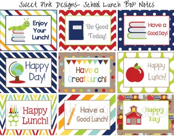 Lunch Box Notes, School Lunch Notes, Lunch Box Printables, Lunch Notes, Boy Lunch Notes, Boy Lunch Printables, Instant Download