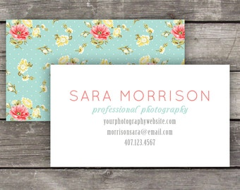 Printable Business Cards / Calling Cards - Shabby Chic