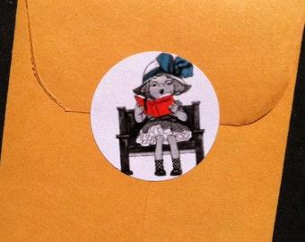 Church Girl Stickers -vintage 1913 (24)