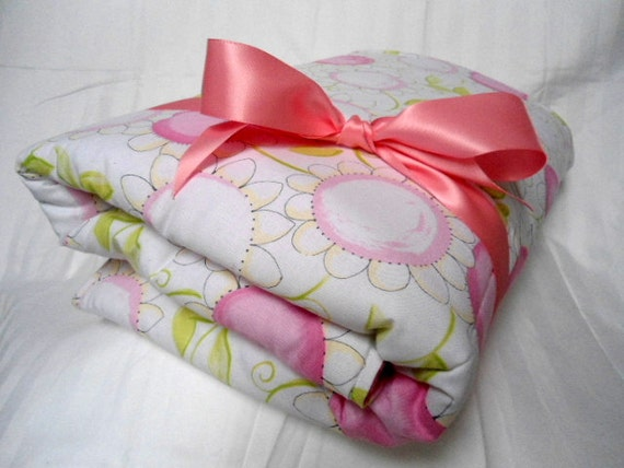 padded baby play mat pad floor blanket pink flowers girls