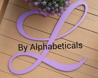 L Initial Wooden Letters for Nursery Decor Wooden Sign Wall Letters Wall Hanging Letters Name Sign Kids Room Decor Large Alphabeticals