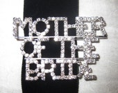 Mother Of The Bride Rhinestone Pin