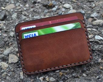 Leather Wallet-Men Wallet-Leather Card Holder Leather-Handmade Brown