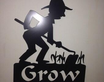 Grow Yard Stake garden stake Farmer
