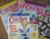 RESERVED - Crochet World Magazines, February, June, & August 2001, Crochet Patterns