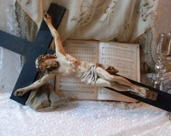 Antique Religious Crucifix BeaconHillCollect  Collectibles  We Ship Internationally
