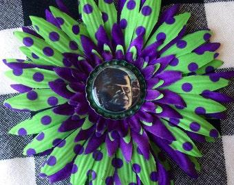 Frankenstein Bottle Cap Flower
