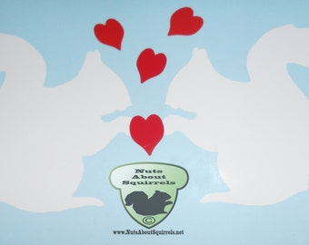 Squirrel Love Vinyl Decal
