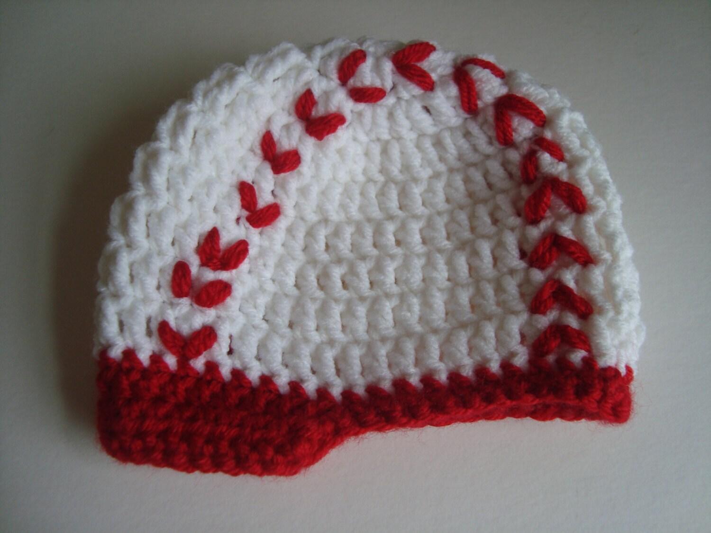 crochet baby boy hat cap white baseball cap photo prop