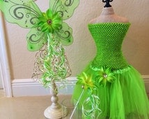 Tinkerbell Tutu, Tinkerbell Costume, Fairy Wings, Tinkerbell Dress, Tinkerbell Party, Fairy Costume, Tinkerbell Party Favor, Disney Vacation
