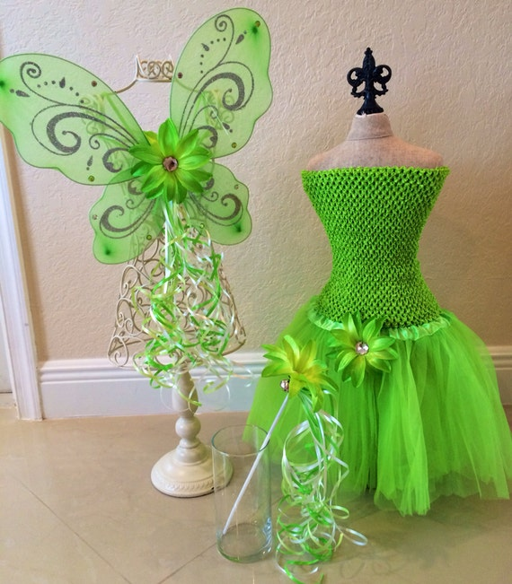 Tinkerbell tutu tinkerbell costume fairy wings tinkerbell for Cuartos decorados de tinkerbell