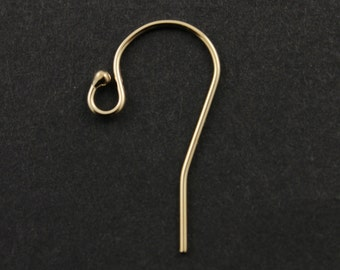 """25% Discount Bulk -10 Pairs, (20 Pieces) Gold Filled Round Ear Wire with Ball, .025""""/ 22GA Round Wire, (GF/306)"""