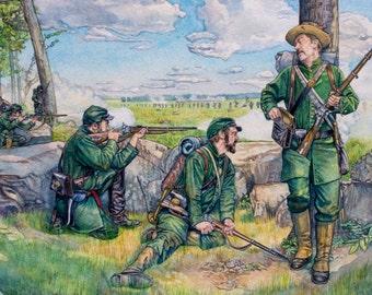 Civil War Art - Sharpshooters of the American Civil War 1861-65 In Battle- Osprey Publishing Original Painting