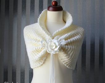 Wedding shawl capelet   in cream!