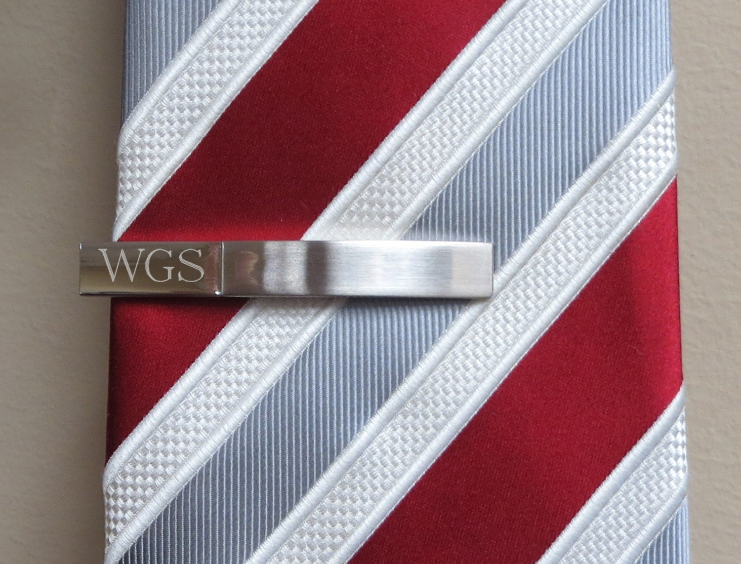 personalized tie clip tie bar monogrammed husband