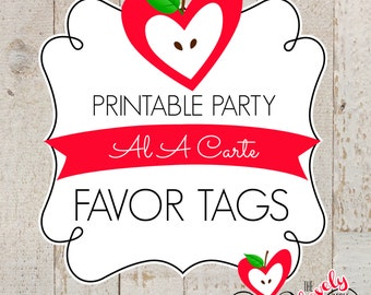 PRINTABLE A LA CARTE---Favor Tags