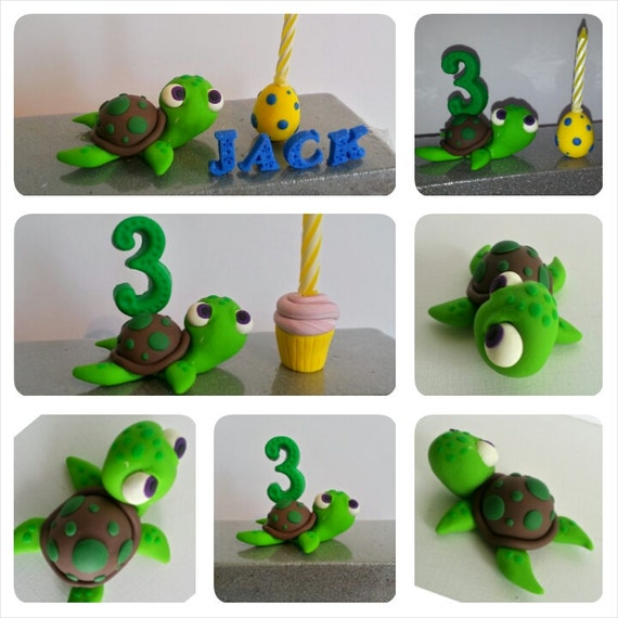 sea turtle wedding cake topper sea turtle birthday cake topper clay turtle cake topper 19729