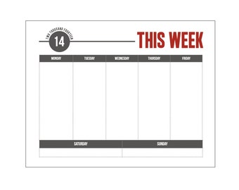 "... for ""Week Calendar Template Monday Friday"" – Calendar 2015"