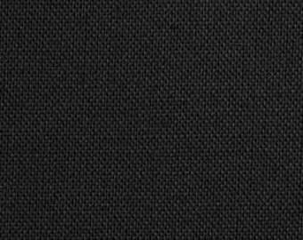 Kona Black by Robert Kaufman Solid Black 1 yard
