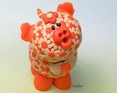 Spring  Flower Piglets Figurines