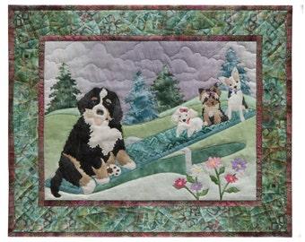 McKenna Ryan Quilt Pattern Dog Park #3 Teeter Tots Puppies on Teeter Totter Quilting DIY