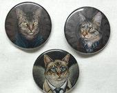 Supernatural Cats, pinback buttons
