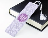 Damask Print Bookmark – personalised metal bookmark - personalized unique bookmark - literary gift - teacher gift - book lover gift - p09