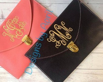 Monogrammed Clutch Purse/ envelope  clutch purse/ monogrammed purse