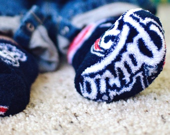 Patriots Ultra Cuddle Fleece Baby Booties