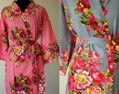 SET OF 9 Bridesmaid gift Robe - Kimono robe, Bridal party gift, Bath Robe, Getting ready robe