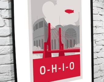 "Ohio State Horseshoe 11""x14"" Poster"
