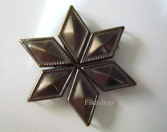 18X10mm 50pcs Brass DOT Diamond Shaped Studs ( 6 legs ) / HIGH Quality - Fikashop