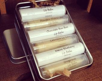 Lip Balm Gift Set of 6 You Choose Flavors