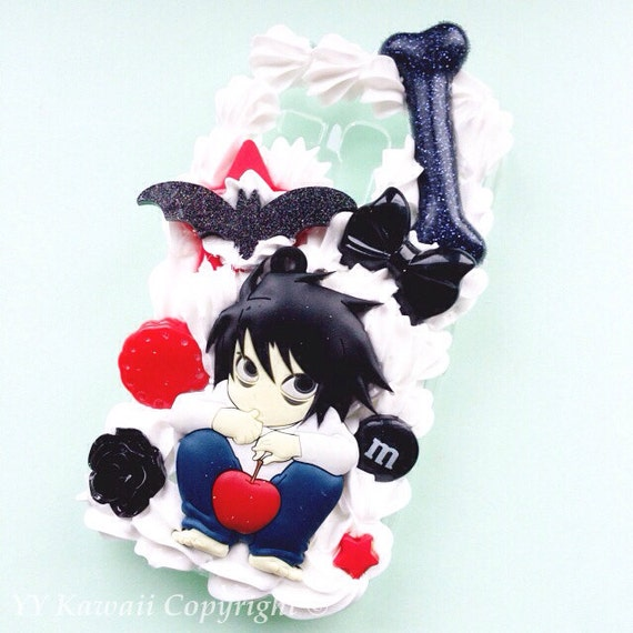 Custom Kawaii Decoden Anime Death Note L Phone Case For IPhone