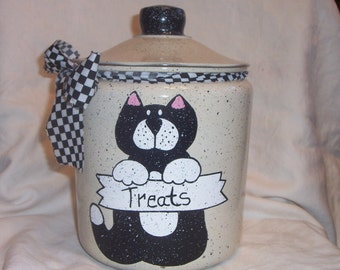 Cat cookie/treat jar PERSONALIZED FREE!!!