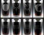 Game of Thrones Dual Sided House Pint Glass Set # 2